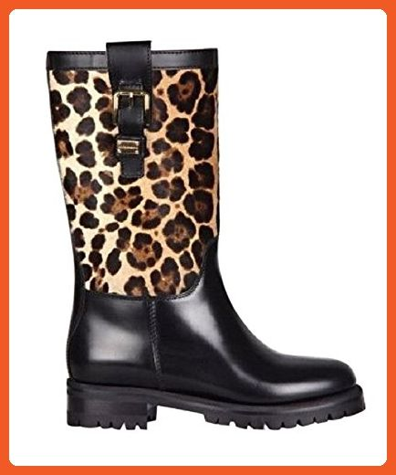 9aad7ec58263a DOLCE   GABBANA Black Leopard Boots Size 6 - Outdoor shoes for women (  Amazon