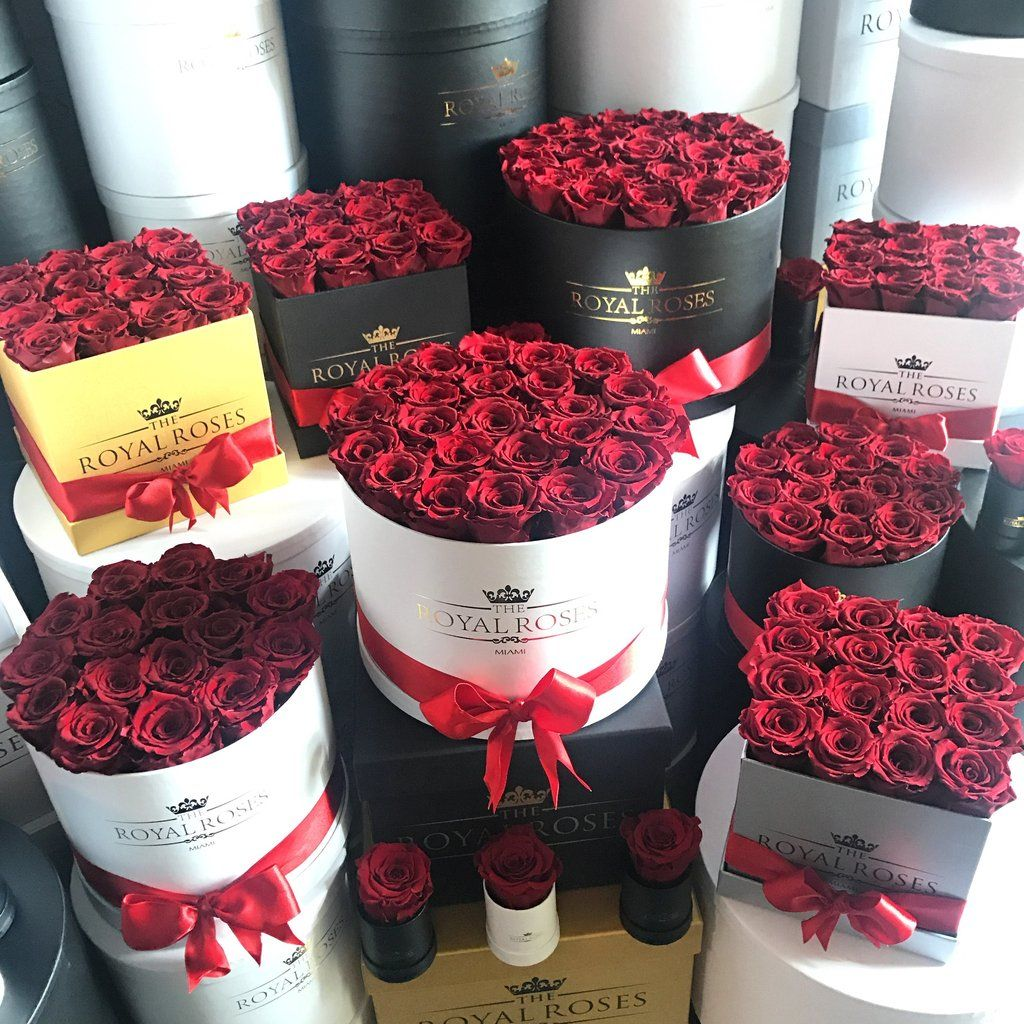 Real Long Lasting Roses Round Box Lifetime Is Over 1 Year Flower Box Gift Luxury Flowers Rose
