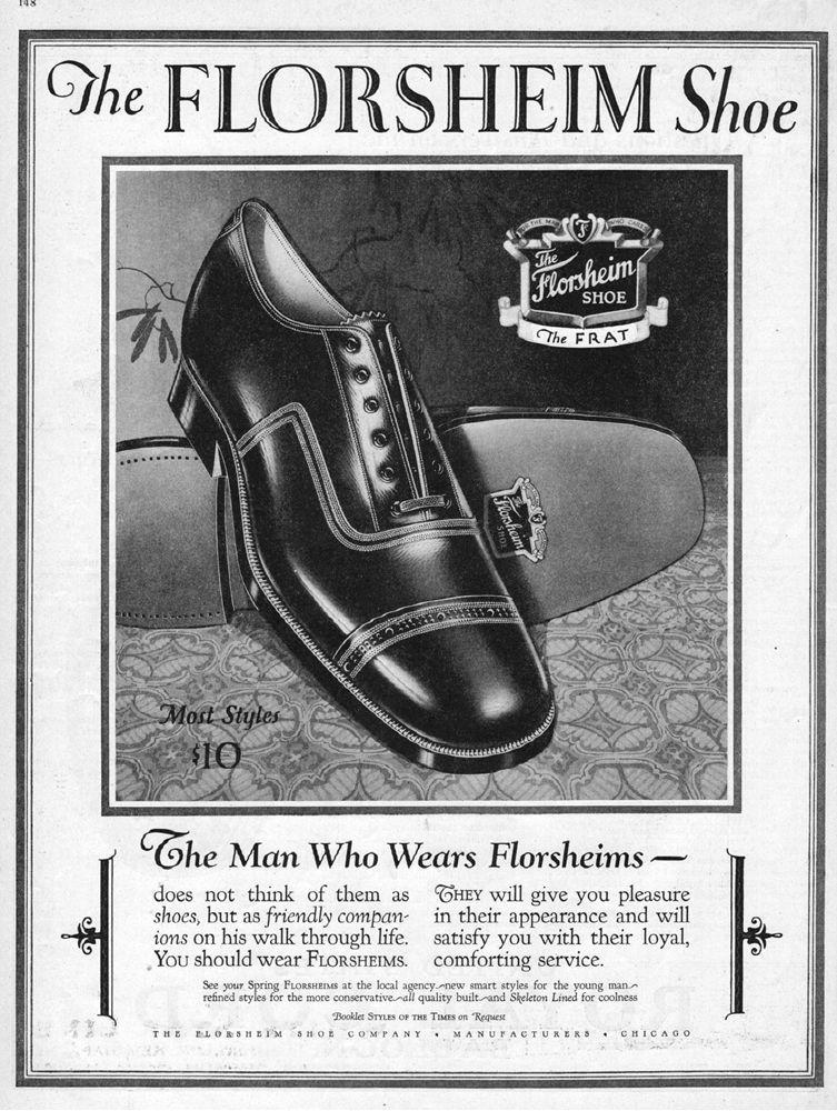 1926 Florsheim Shoe Chicago Il Vintage 1920s Men Fashion