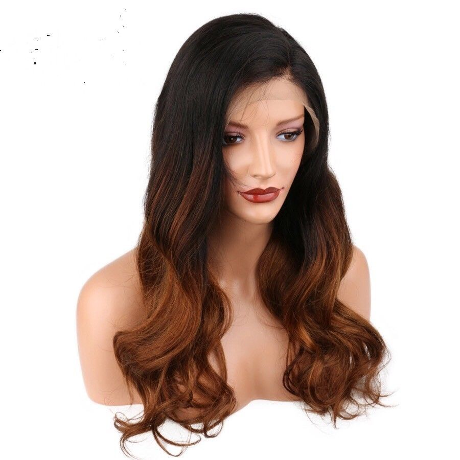 A u processed brazillian ombre b lace front bodywave human hair