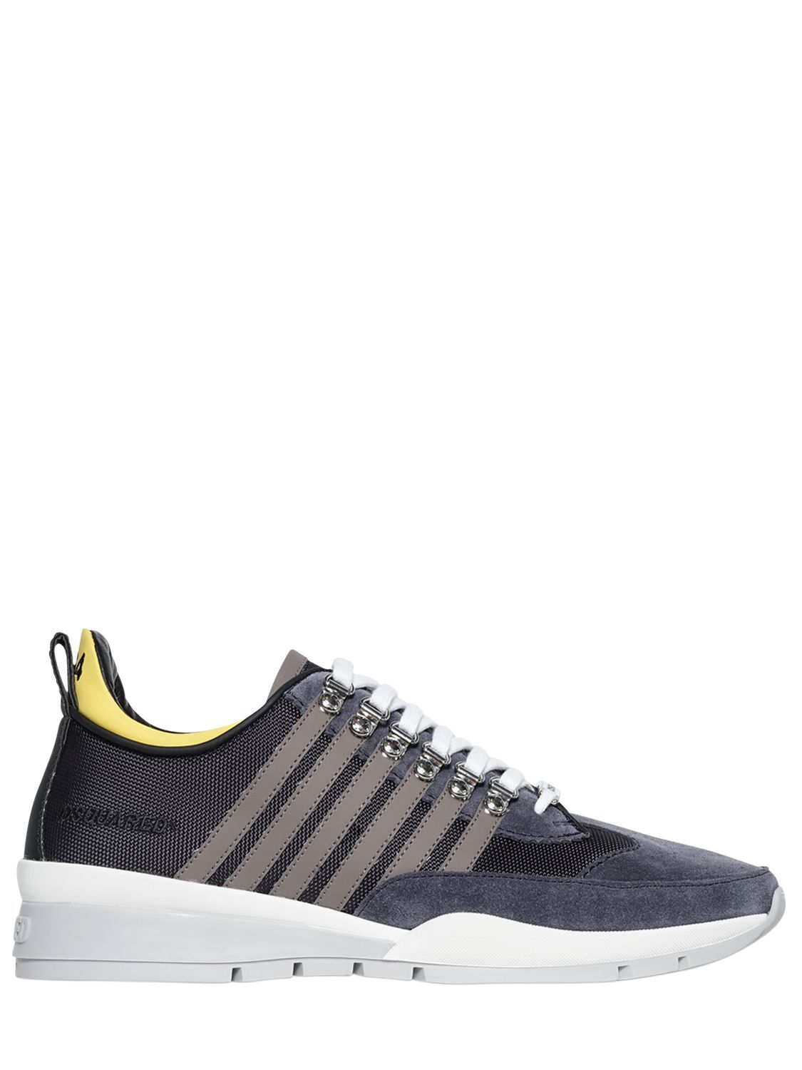 Dsquared2 251 TECH CANVAS & SUEDE SNEAKERS zcYifMS