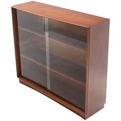 gibbings for widdicomb bookcase with glass sliding doors mid century