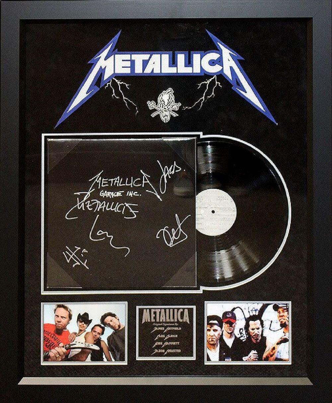 Metallica Garage Inc Signed Album Framing Metallica Album