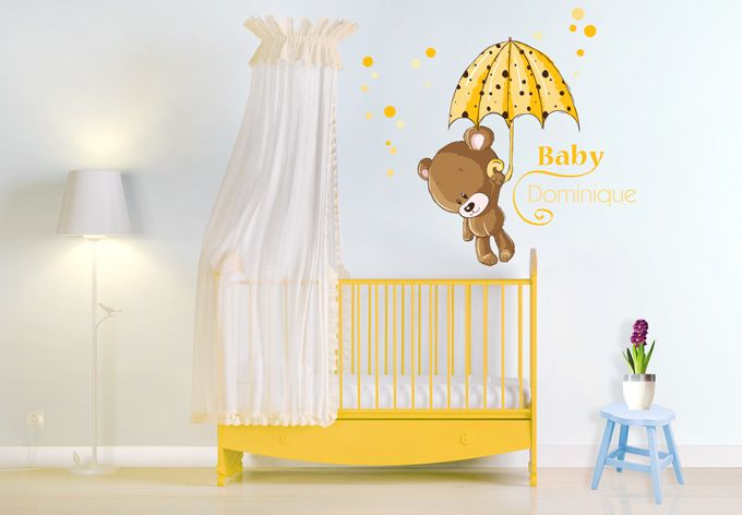Wandtattoo + Name Baby Gelb | alles | Pinterest | Baby, Wandtattoo ...