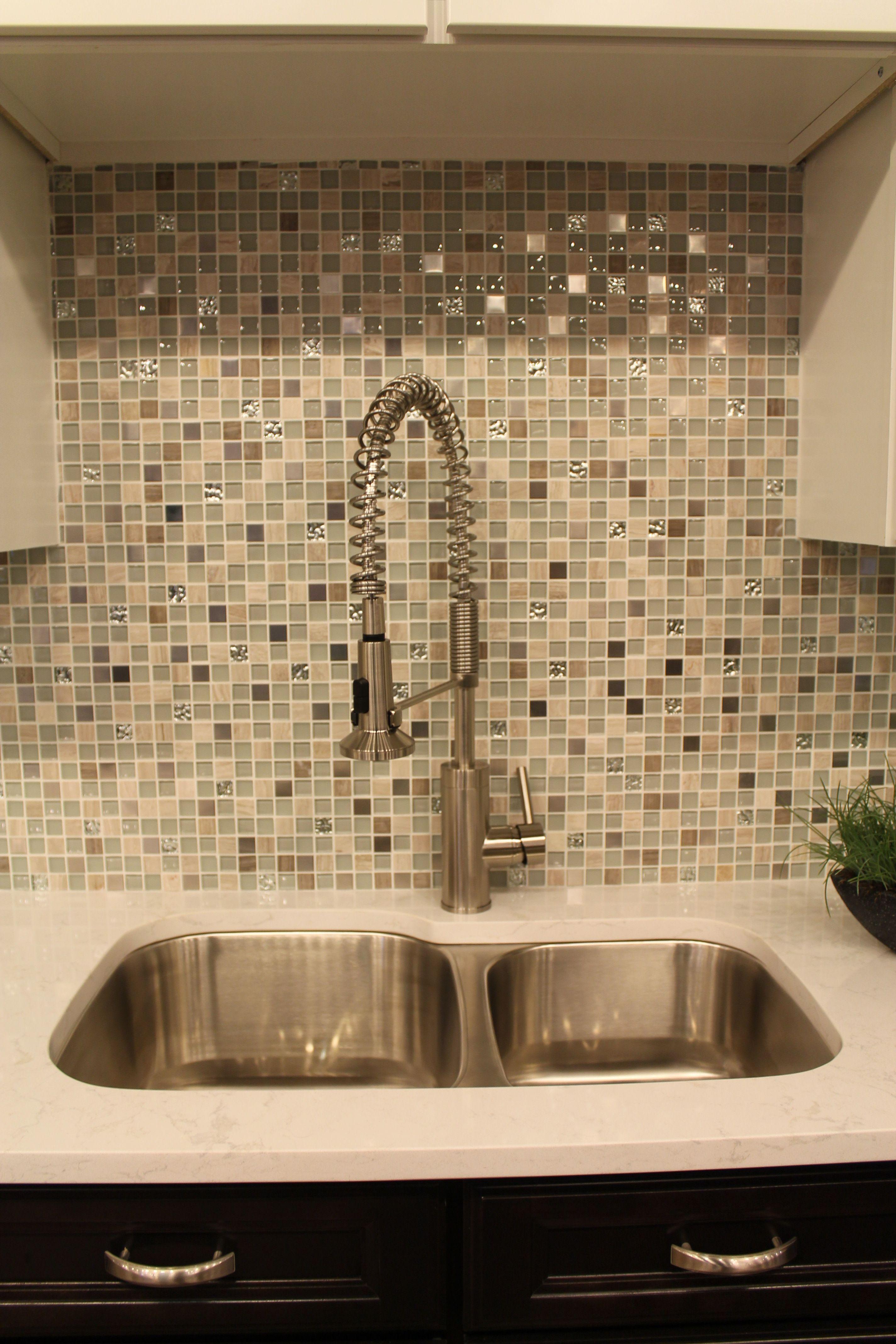 - Another Sink Idea With Creative Backsplash #ModernBacksplashBricks