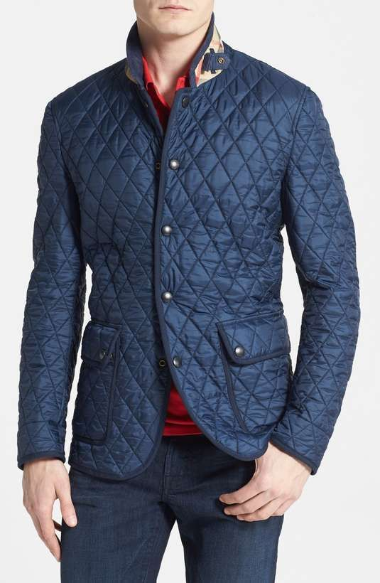 Love The Burberry Brit Rendell Diamond Quilted Jacket On Wantering Burberry Shirts For Men Jackets Men Fashion Mens Outfits