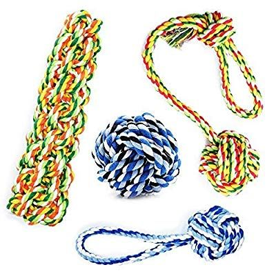 Kelifang Dog Rope Toys Dog Chew Toys Rope Dog Toy Rope Chew