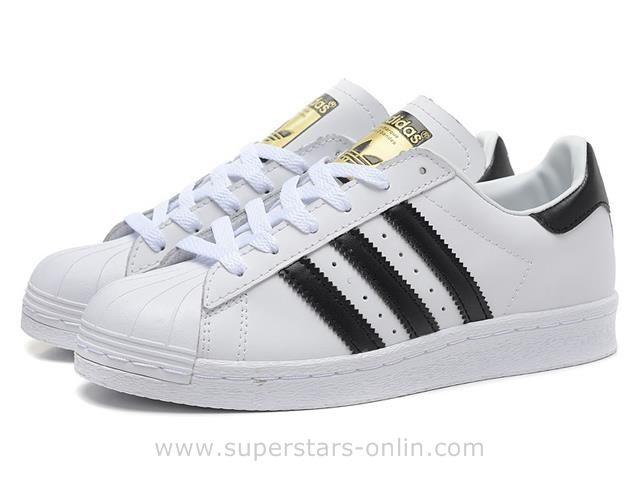 ADIDAS Originals Superstar 80s DLX SU Cuir White Black