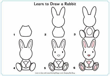 Qué Puedo Hacer Hoy Dibujos Paso A Paso Conejo Aprender En