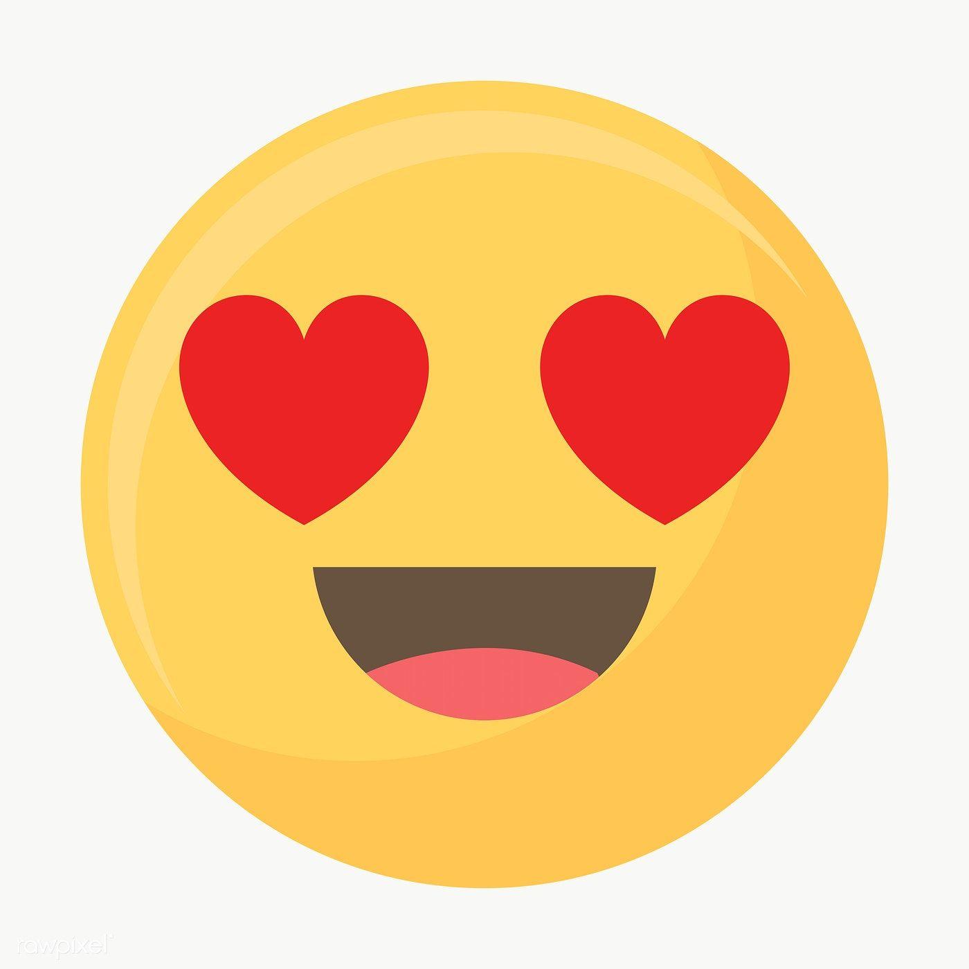 Download Premium Png Of Hearted Eyes Face Emoticon Symbol Transparent Png Emoticon Cute Emoji Symbols