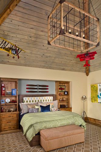 Boys Airplane Room Design Ideas, Pictures, Remodel, And Decor