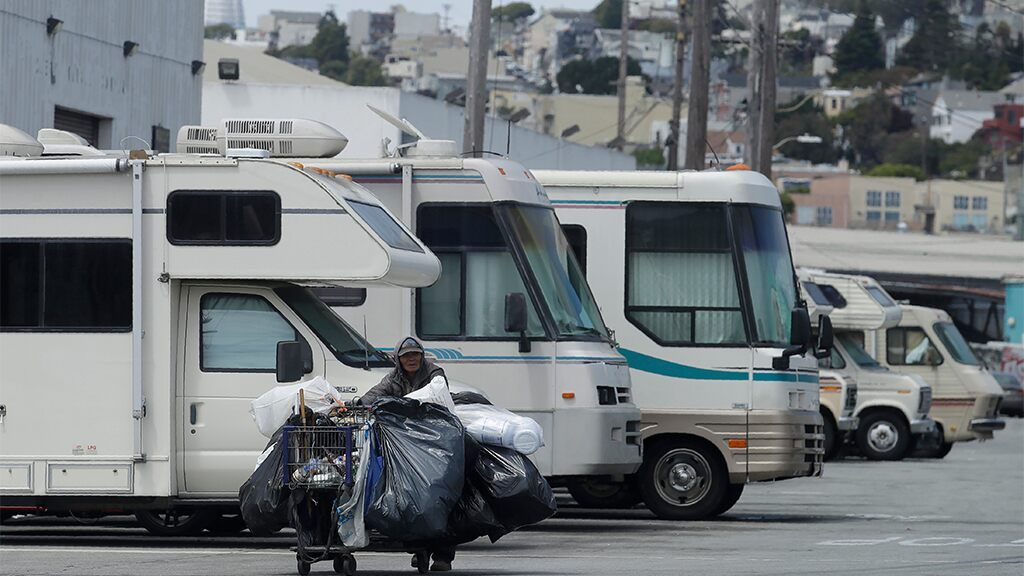 San Francisco Plans To Reserve Parking Lot For Homeless Living Out Of Vehicles Reports Recreational Vehicles San Francisco Airport Francisco