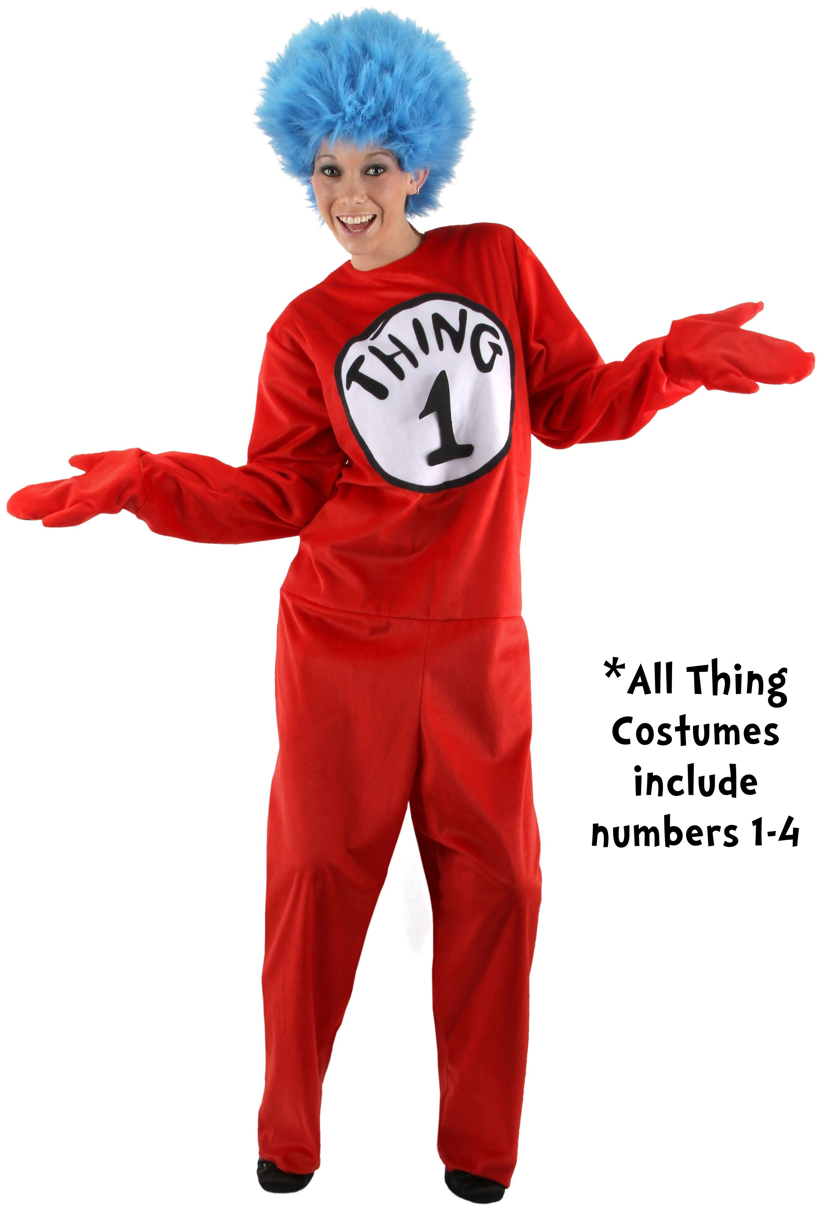 Dr. Seuss The Cat in the Hat - Thing 1 or Thing 2 Adult Costume  sc 1 st  Pinterest & Dr. Seuss The Cat in the Hat - Thing 1 or Thing 2 Adult Costume ...