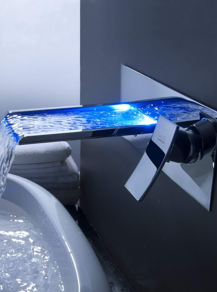 Innovative Designs For Bathrooms Bathroom Sink Faucets - Waterfall faucet for bathroom sink for bathroom decor ideas