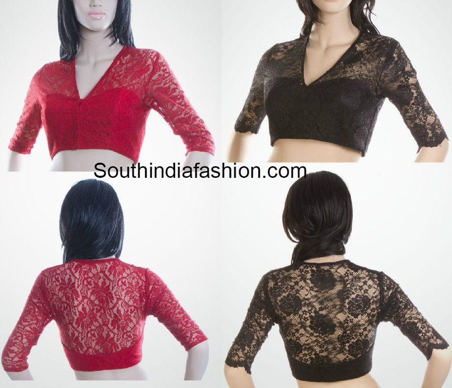 1a573d10978a87 Trendy Lace Blouse | Vastrabhusha | Blouse designs, Blouse, Lace saree