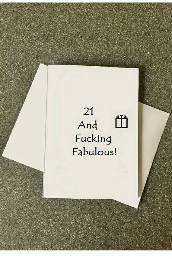 21st Birthday Card21 And Fucking Fabulous21st Party Card21st Card Him