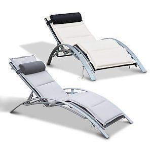 Sonnenliege Gartenliege Gartenstuhl Relaxsessel Liegestuhl Alu