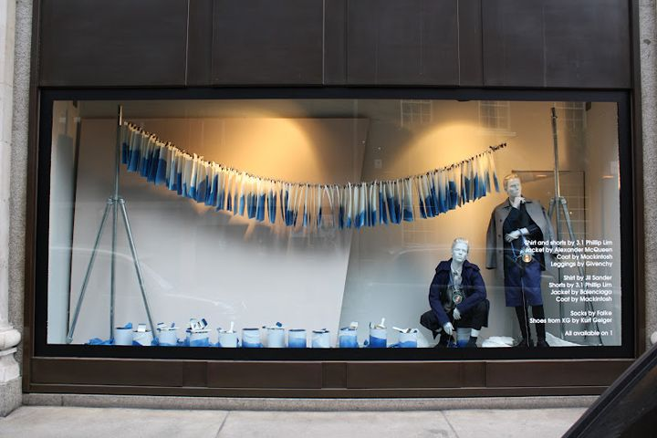 Colours Fade Selfridges Duke Street Windows London 02 Colours Fade Selfridges Duke Street Wind Retail Design Display Window Display Design Denim Window Display