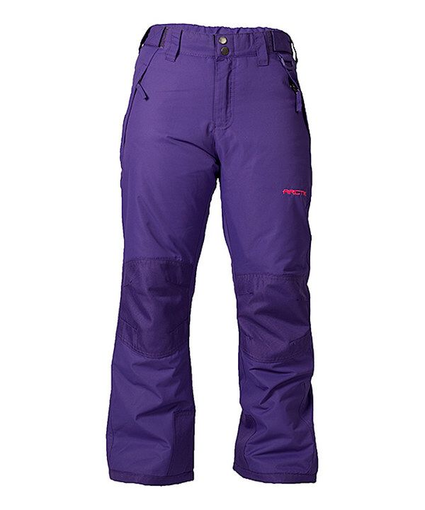 23e442252a44 Look at this Purple Reinforced Ski Pants - Girls on  zulily today ...