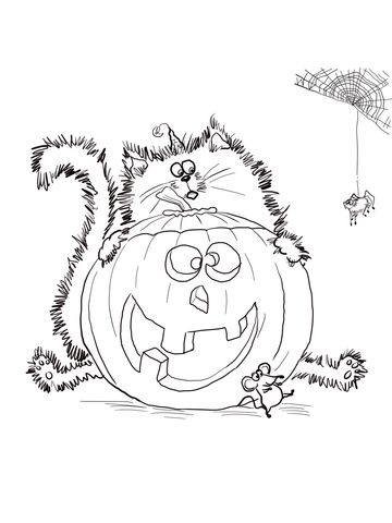 Scaredy Cat Splat coloring page from Splat the cat