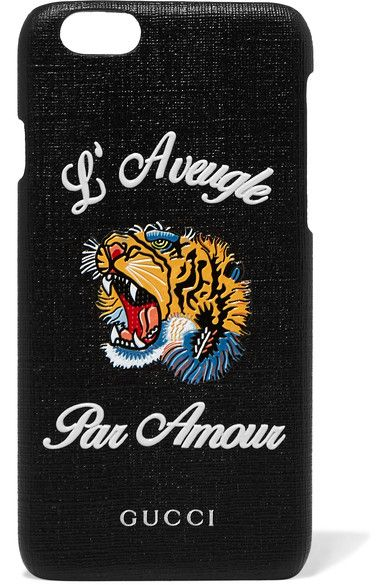 eb50f12eeae48 GUCCI Tiger coated-canvas iPhone 6 case