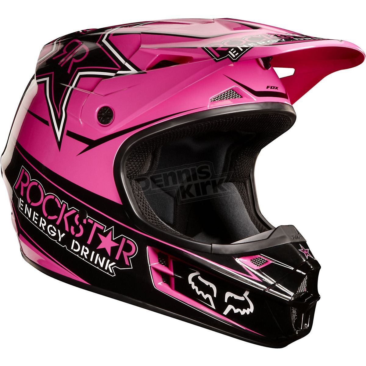 Pink Rockstar Fox Racing Helmet Motocross Helmets Dirt Bike Girl Bikes Girls