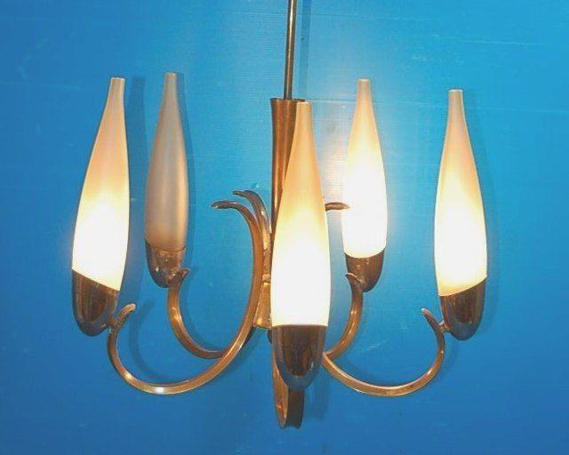 Lampadario Mid-Century 50 s Deckenlampe/Oscar Torlasco style/Ceiling Lamp