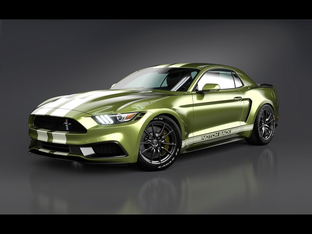 2017 ford mustang notchback design by chris cyrulewski lime gold