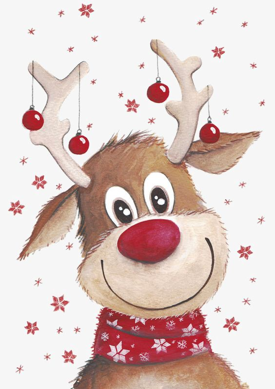 Cerf De Noel Christmas Deer, Deer Clipart, Elk, Red Bell PNG Transparent
