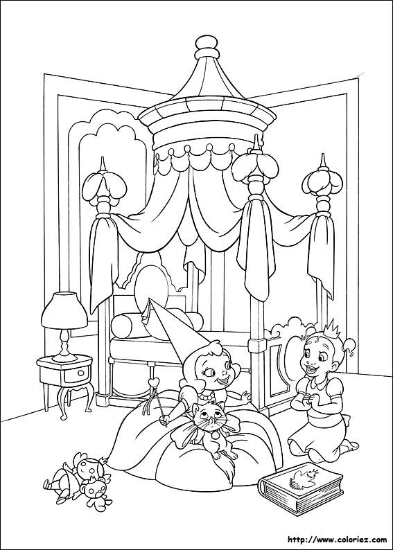 charlotte et tiana the princess and the frog disney coloring page