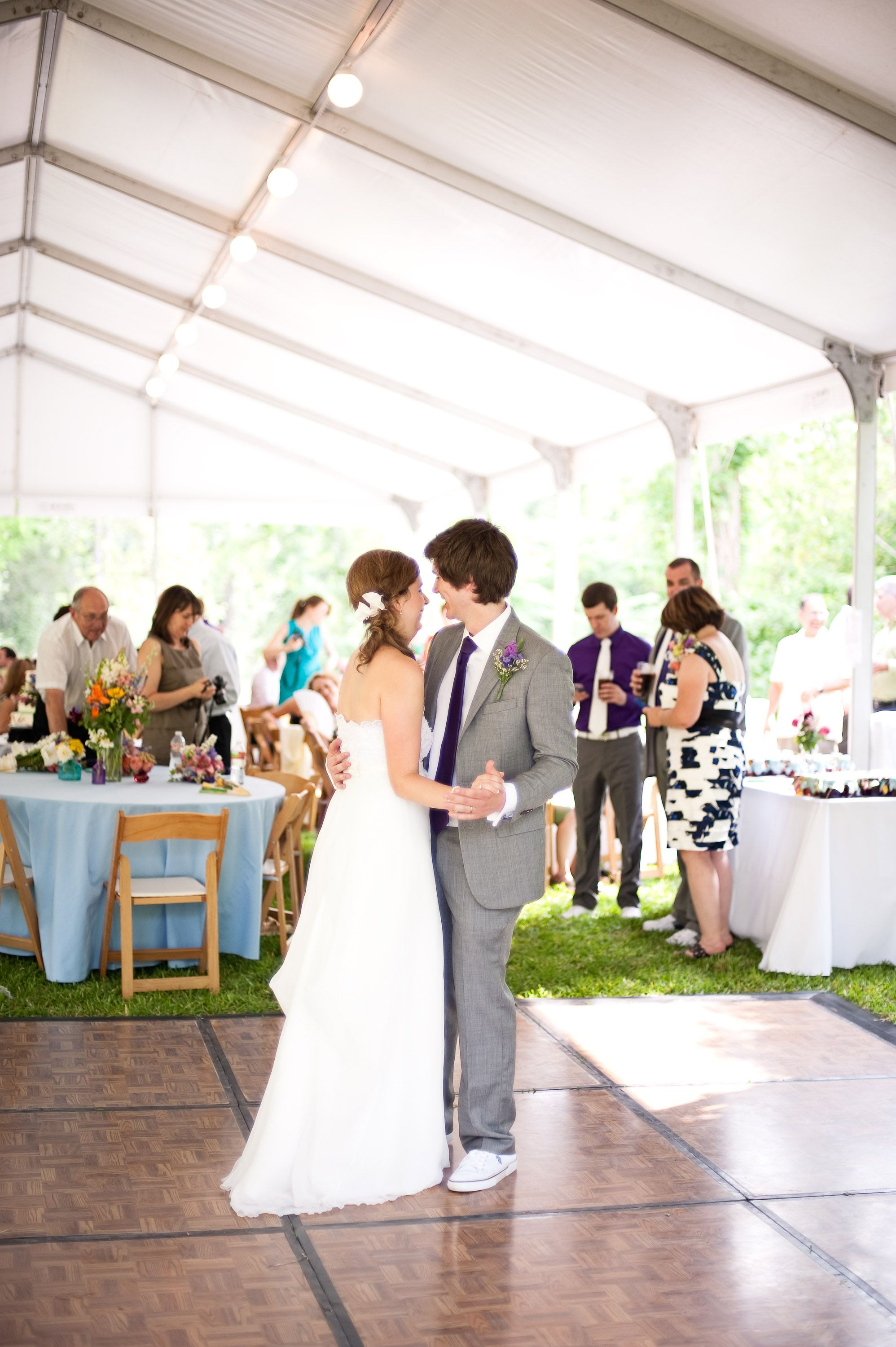 Reception On The Houston Arboretum Lawn Outdoor Wedding In Nature