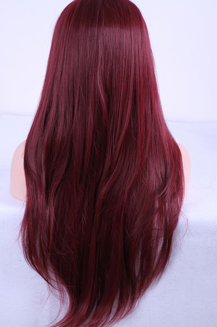 Red wine hair that is to die for her long hair is mesmerizing and