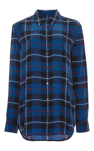 e58d664a2fd71e Silk Check Print Reese Button Down Blouse by Equipment Now Available on  Moda Operandi