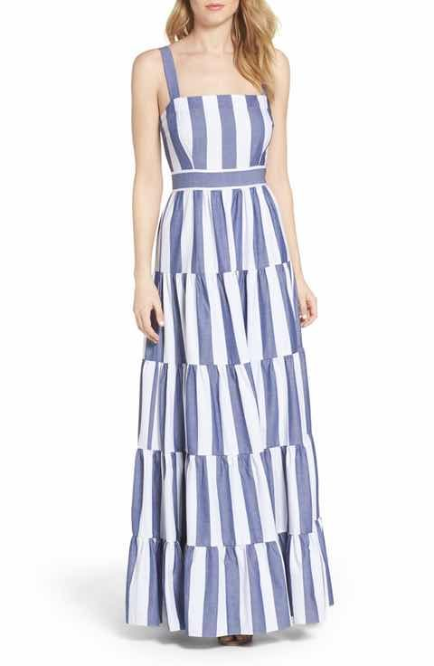 layered maxi dress - Blue GOEN.J OU3vKN