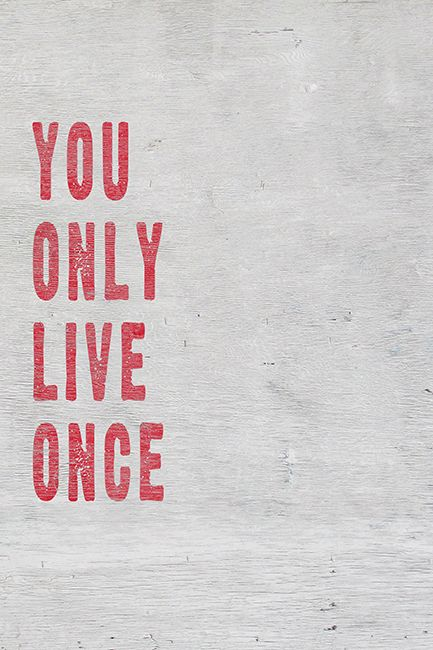 You Only Live Once (YOLO), motivational poster