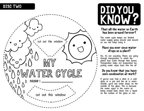 Water Cycle Worksheet B/W 2 | Flickr - Photo Sharing! | Water ...