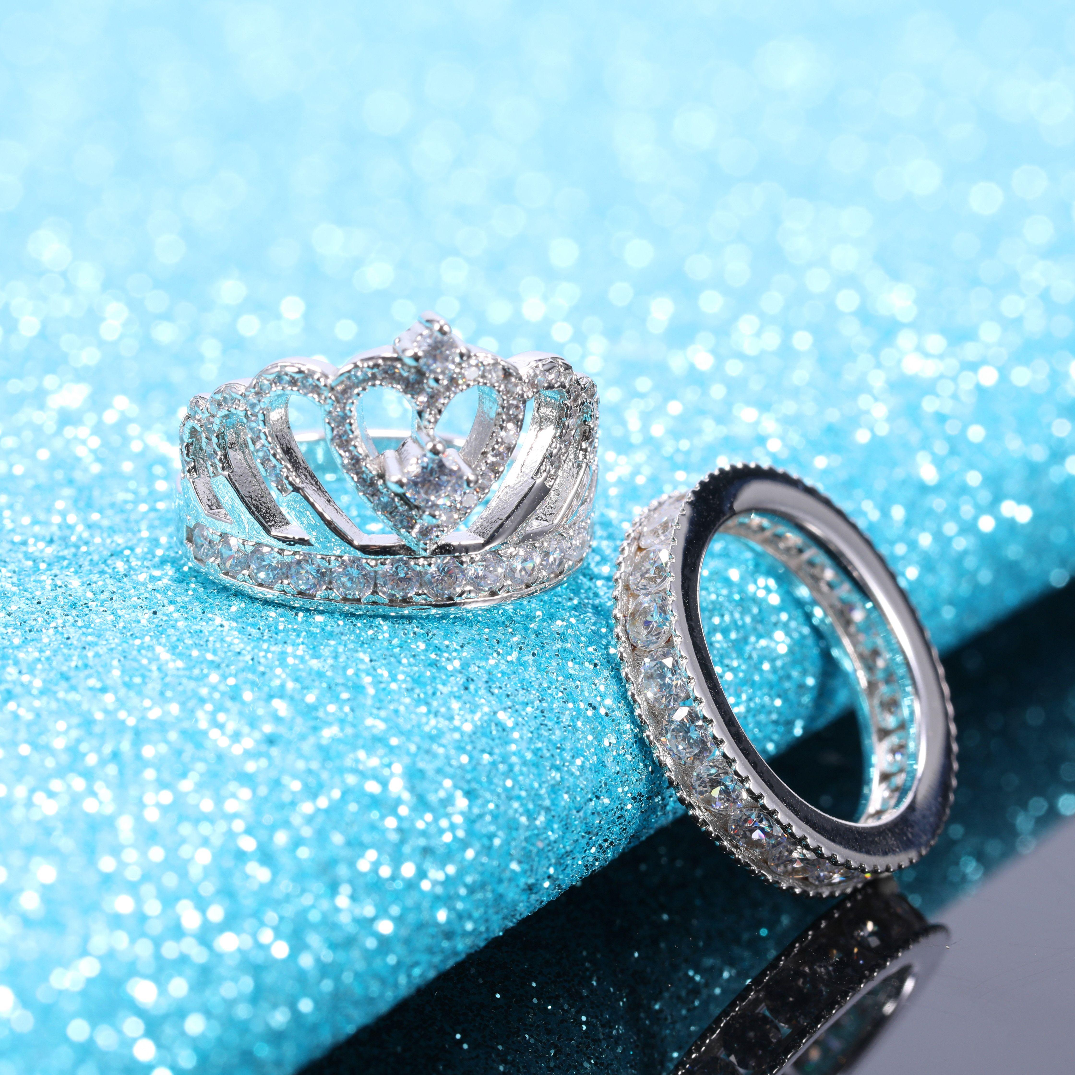 Sterling Silver Cubic Zirconia Wedding Engagement Rings Wedding Rings Engagement Engagement Rings Silver Wedding Bands