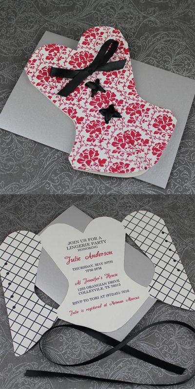 lingerie shower invitations on pinterest