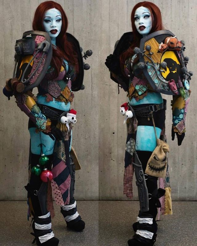 This is one badass original cosplay for The Nightmare Before Christmas.  This is Battle Sally, and it was created by the talented Maweezy Cosplay. I  absolutely love the detail of this costume. The armor and outfit was made  using worbla and insulation foam. Every part of that armor includes  elements from the classic Henry Selickfilm and the bold cross stitching  really ties the whole costume together. This is easily the best Nightmare  Before Christmas cosplay that I've seen.  Via…