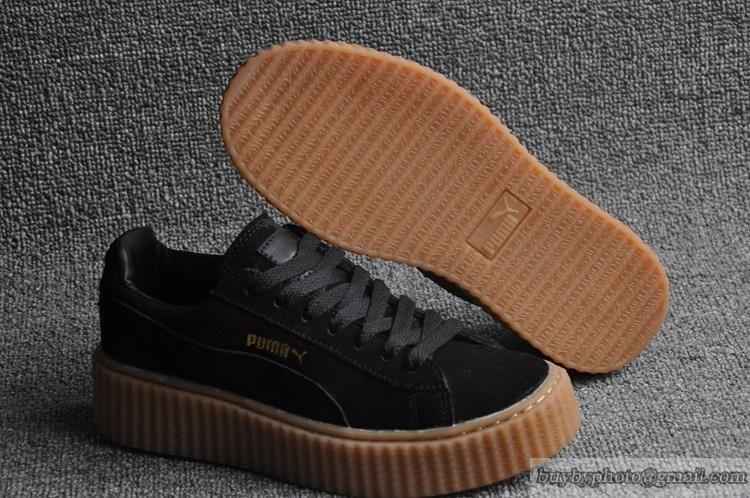 f336dc74e Lovers PUMA X RIHANNA SUEDE CREEPER Casual Shoes 361005-02 Black Brown  Bottom #RIHANNA #SUEDE CREEPER #361005-02 #popular