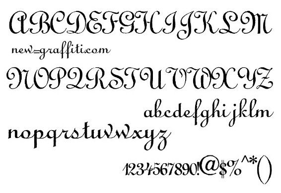Calligraphy Alphabet Fonts Printable