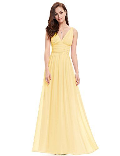 Ever Pretty Womens Floor Length Semi Formal Evening Dress 8 US Yellow Read More Reviews Of The Product By Visiting Link On Image Note Amazon