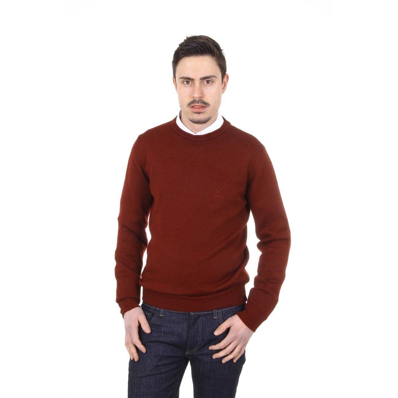 Versace 19.69 Abbigliamento Sportivo Milano mens round neck sweater 9802 GIROCOLLO BORDEAUX
