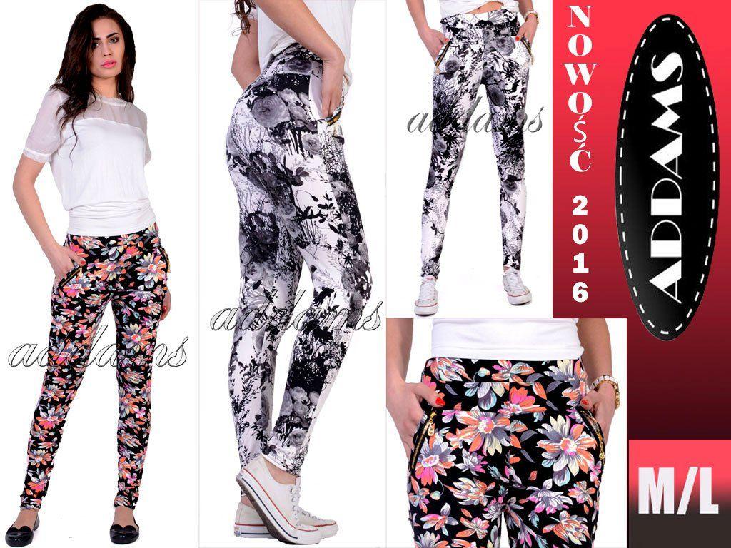 Hit Allegro Modne Spodnie Kwiaty Pastele P343 M L 6091407760 Oficjalne Archiwum Allegro Fashion Two Piece Pant Set Legging