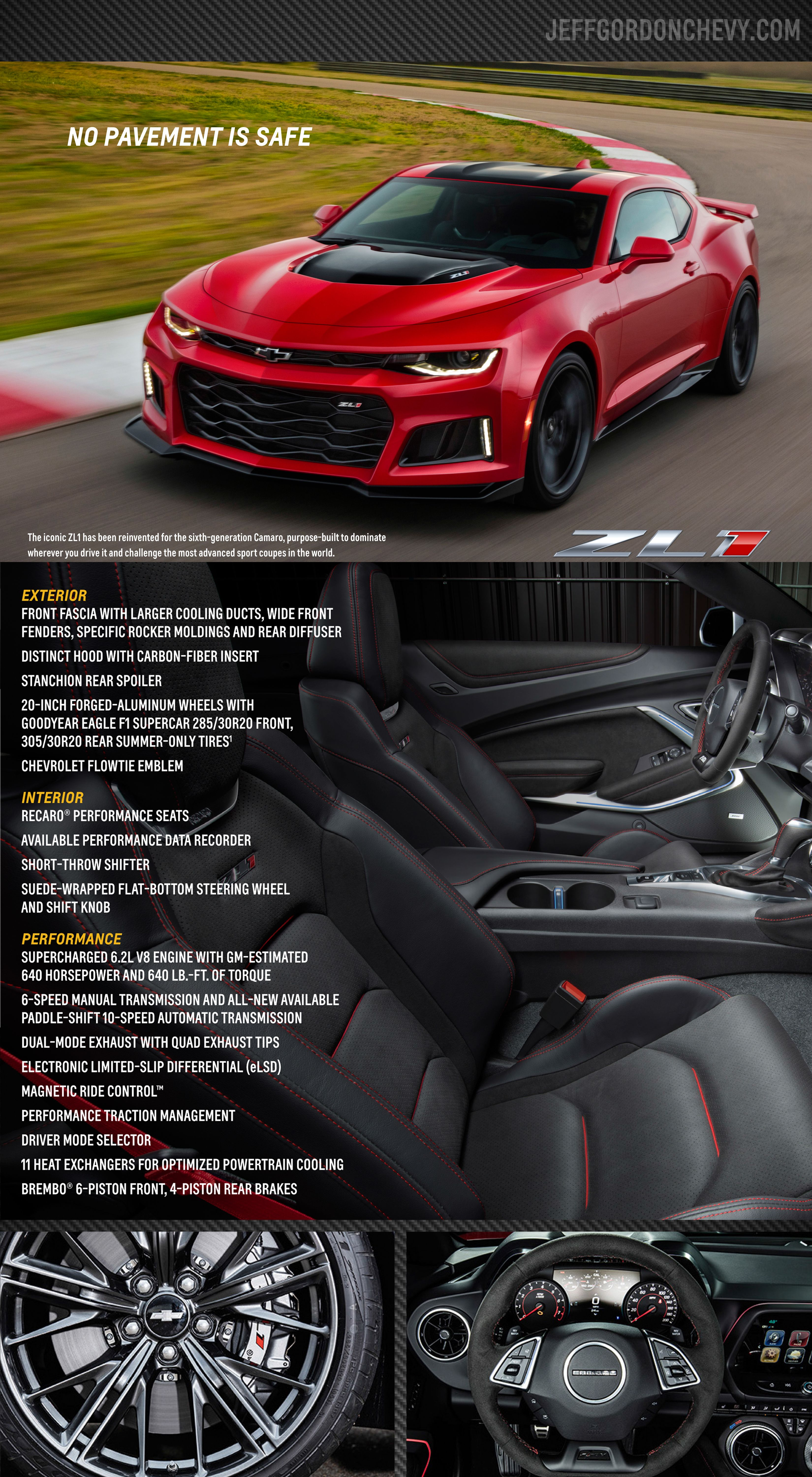 The 2017 Chevy Camaro ZL1 Coupe will be available at Jeff Gordon ...