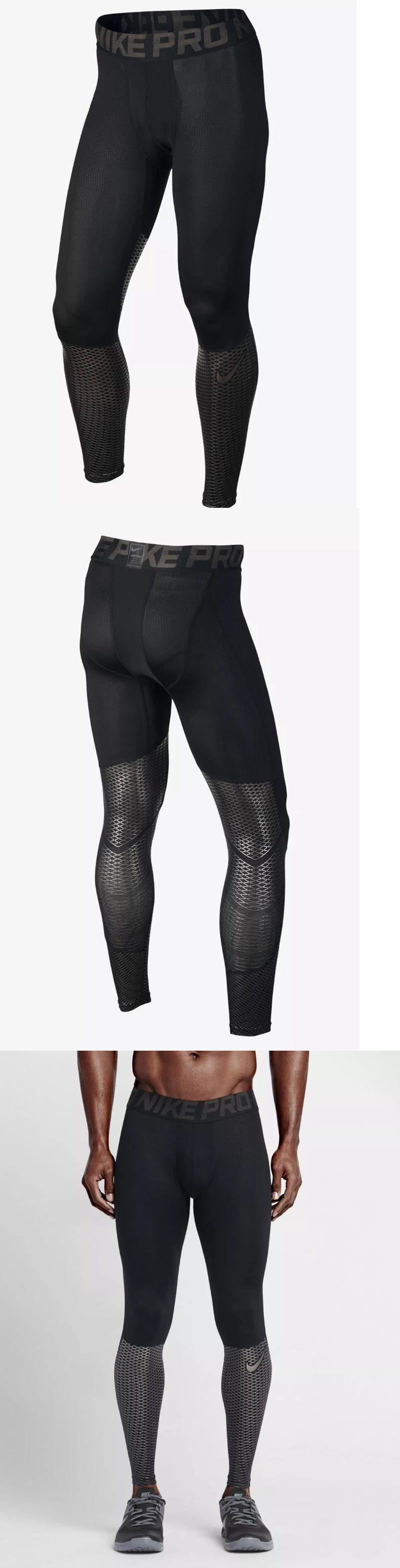 Men Athletics: Nike - Mens Pro Hypercool Max Black Training Tights Size M (744283 010) $80 BUY IT NOW ONLY: $34.95