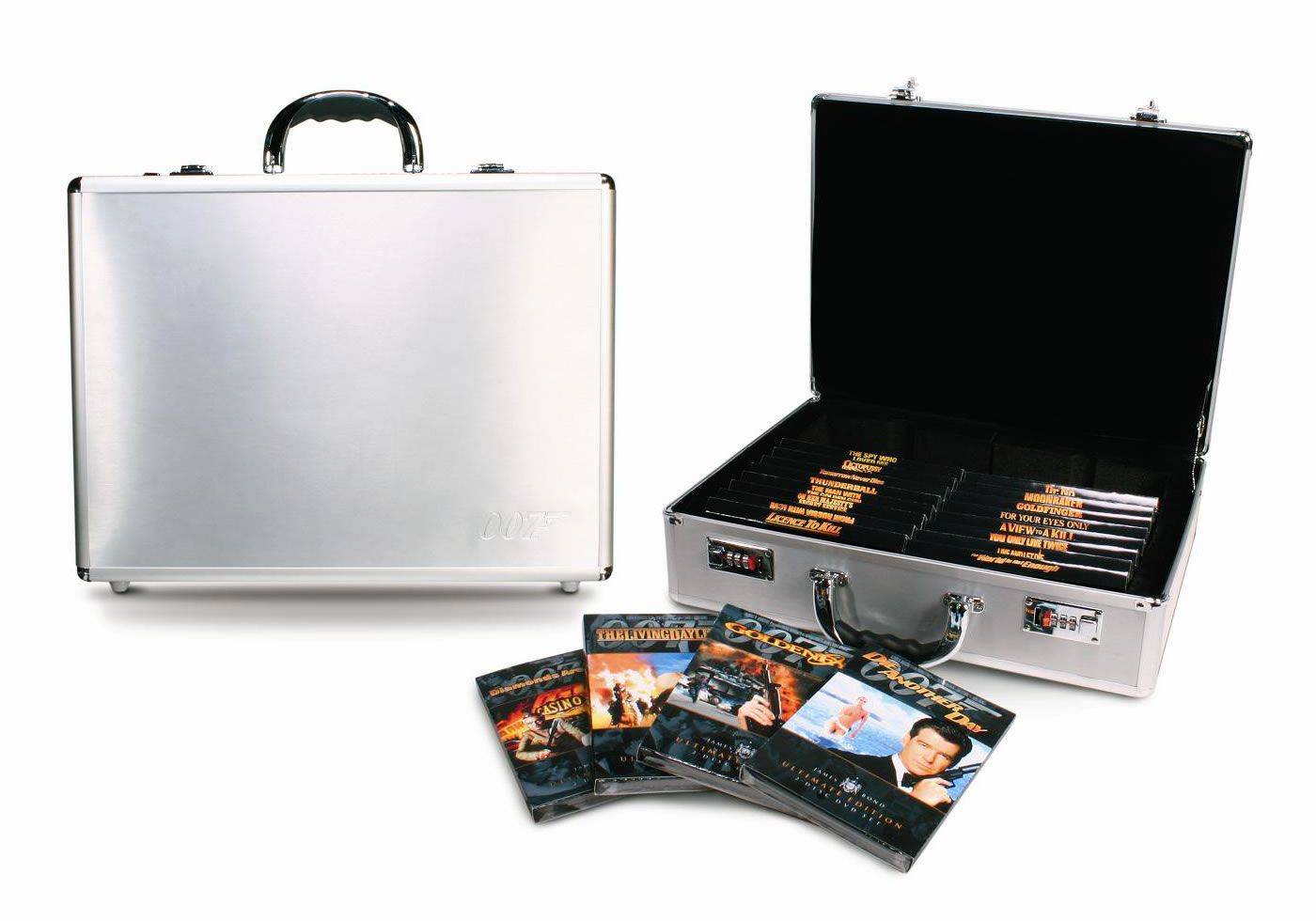 007 James Bond Collection In Tin Briefcase Dvd James Bond
