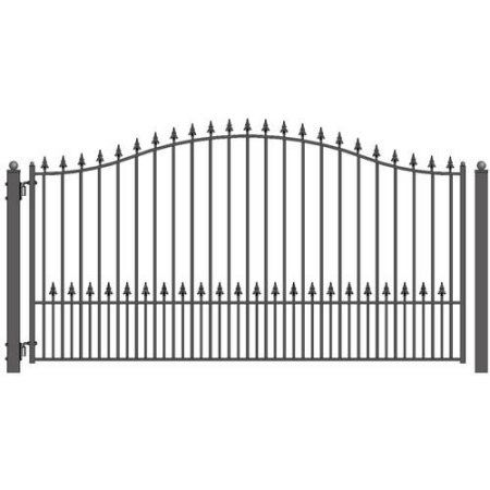 Patio Garden Wrought Iron Driveway Gates Single Swing Fence Gate