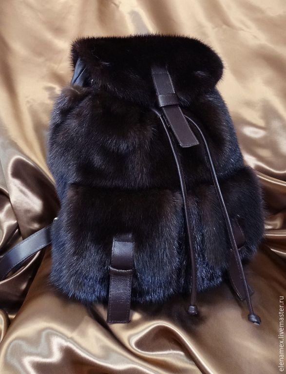 e962dcf9363b Купить Рюкзак из меха норки - коричневый, рюкзак, рюкзак ручной работы,  рюкзачок, рюкзак для девушки