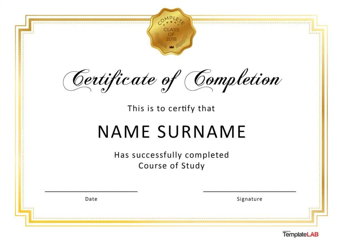 Certificate Of Completion Template Free Printable - JakNet Pertaining To Free Certificate Of Completion Template Word